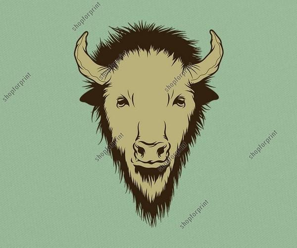Buffalo Head in Vector Formats
