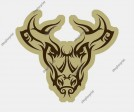 Bull Face Vector (Set of 5 Images)