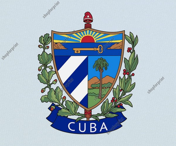 Cuba Coat of Arms Vector (3 Images)