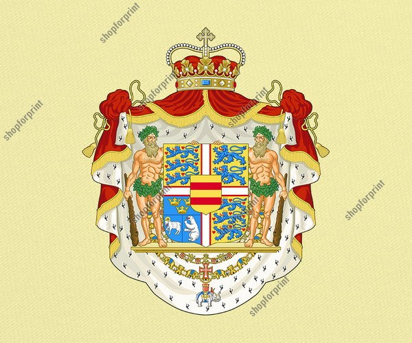 Denmark Coat of Arms Vector (State and Royal Versions)