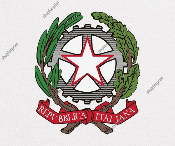 Emblem of Italy in Vector Formats (Two Images)