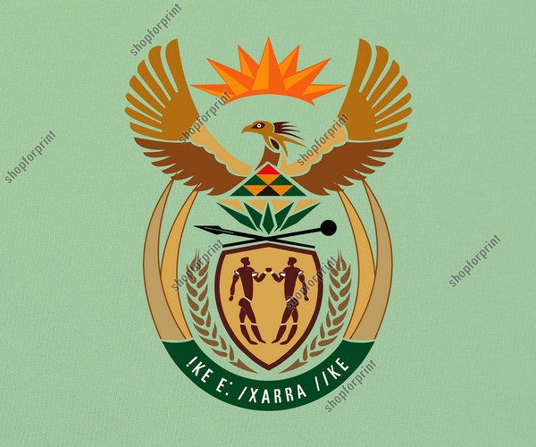 South African Coat of Arms Vector