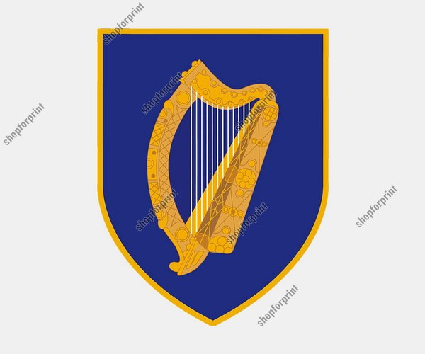 The Coat of Arms of Ireland Vector Set (Three Images)