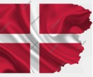 Danish Flag Vector (Two Images)