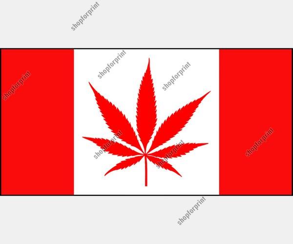 Canada Marijuana Flag in Vector Formats
