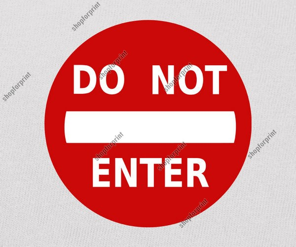 Do Not Enter Sign Image