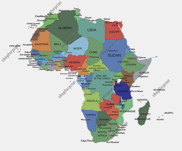 Africa Map Vector - AI, SVG, EPS