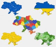 Ukraine Map Vector