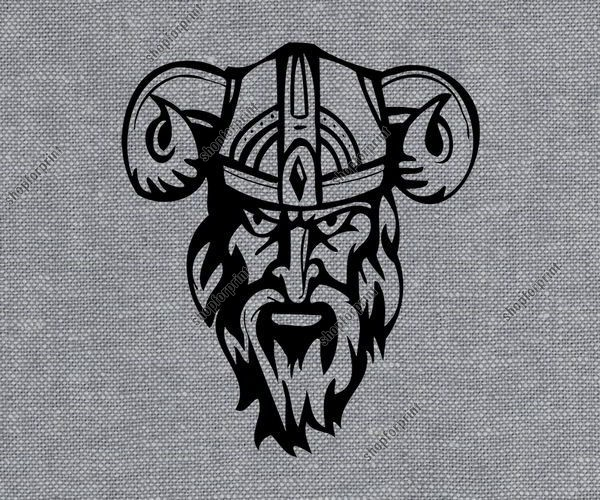 Viking With Helmet Vector - AI, SVG, EPS