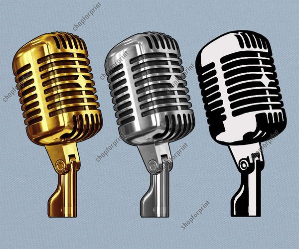 Old Microphone Vector (3 Images)