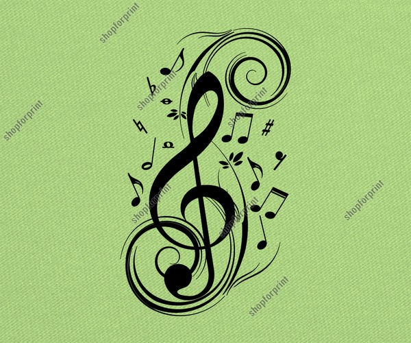 Treble Clef in Vector