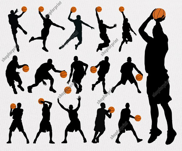 Basketball Player Silhouette in Vector Format