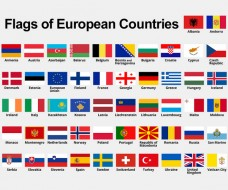 Flags of European Countries with Names