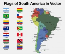 South America Flags with Names