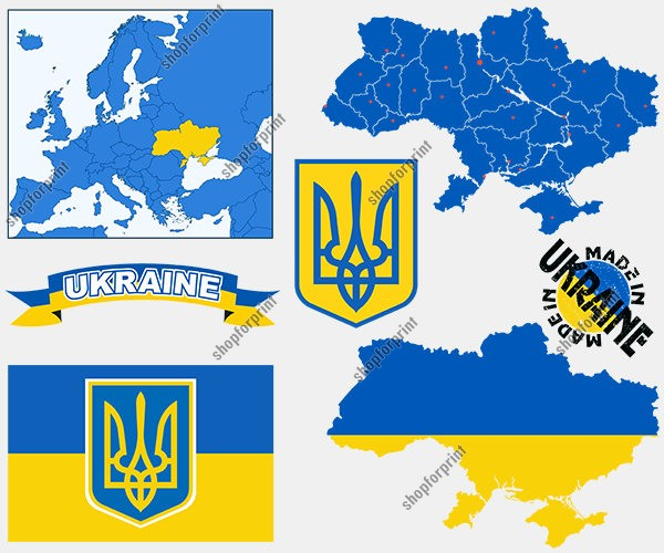 Ukraine Vector Pack 6 Several Images