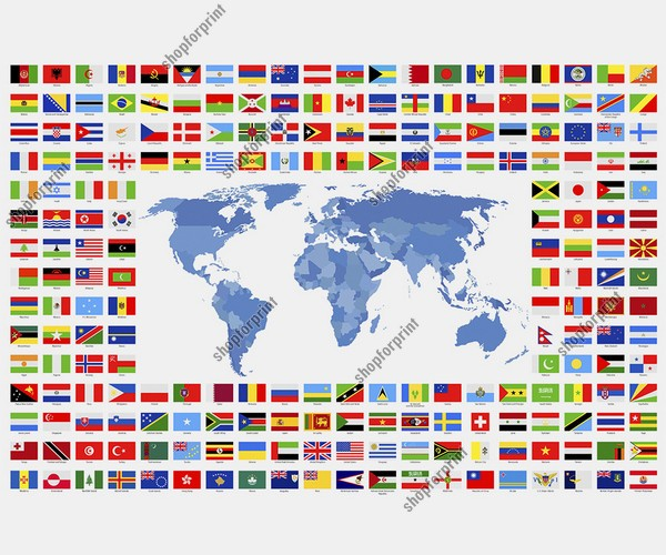World Flags in Vector Format - 242 Images.