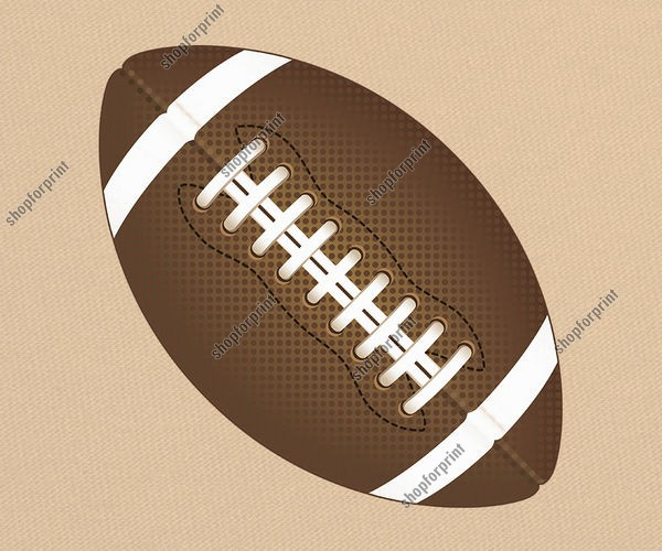 Rugby Ball in Vector Formats