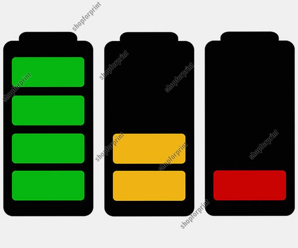 Battery Vector. Three Images.
