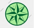 Compass Rose Vector - Five Images in Several Colors.