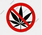 No Marijuana Sign Vector