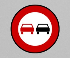 No Overtaking Sign