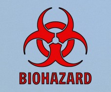 Red Biohazard Symbol
