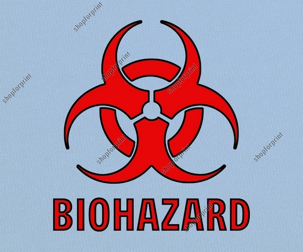 Red Biohazard Symbol Pack High Quality Images