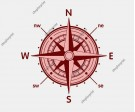 Wind Rose Compass Set Vector - 5 Images